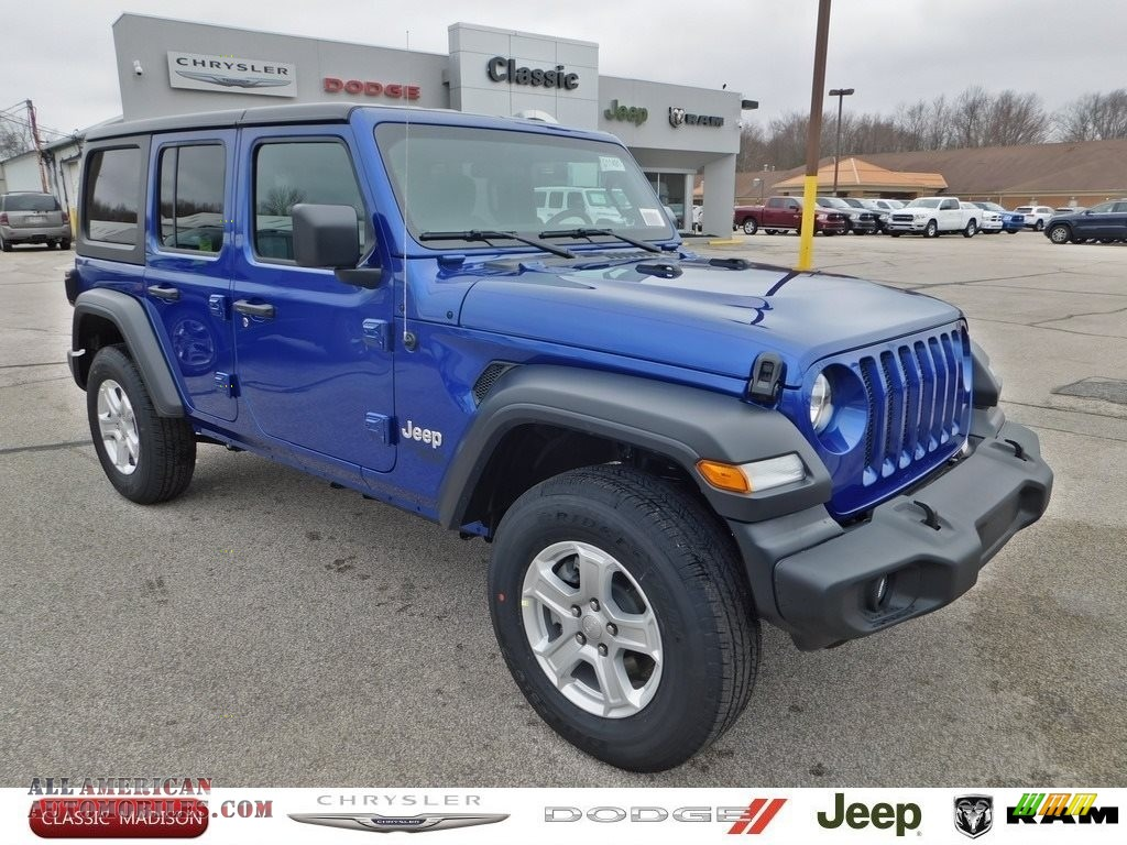 Ocean Blue Metallic / Black Jeep Wrangler Unlimited Sport 4x4