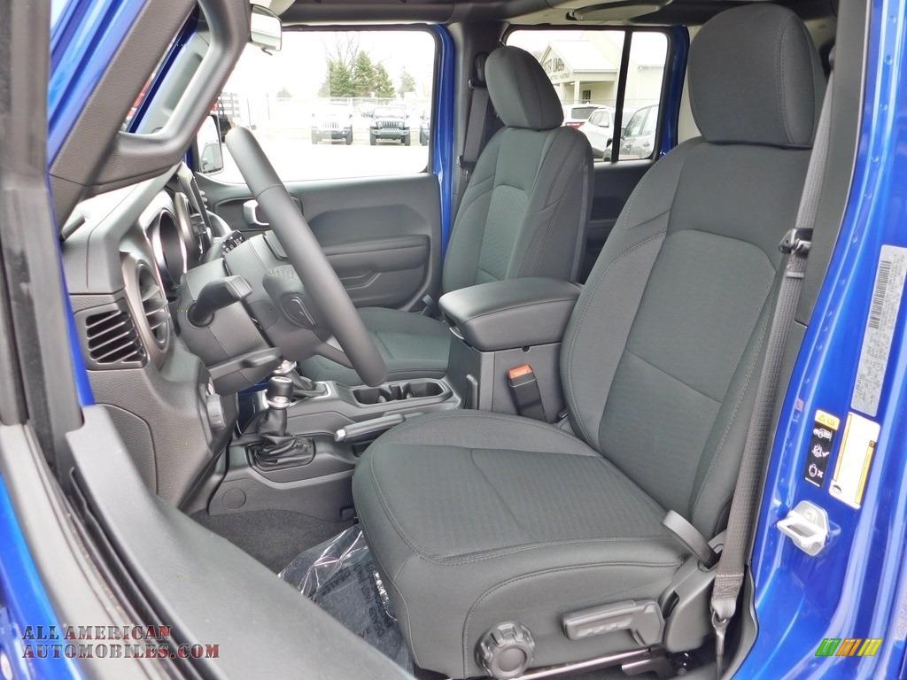 2020 Wrangler Unlimited Sport 4x4 - Ocean Blue Metallic / Black photo #2