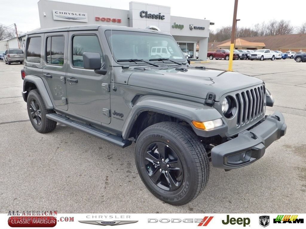 Sting-Gray / Black Jeep Wrangler Unlimited Sahara 4x4