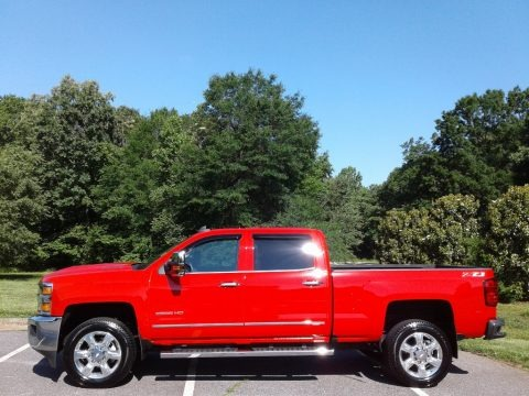 Red Hot 2019 Chevrolet Silverado 2500HD LTZ Crew Cab 4WD