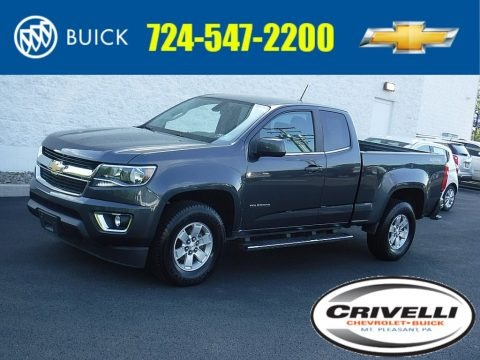 Graphite Metallic 2017 Chevrolet Colorado WT Extended Cab 4x4