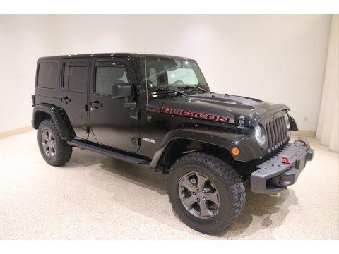 Black 2017 Jeep Wrangler Unlimited Rubicon 4x4