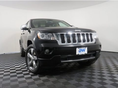 Brilliant Black Crystal Pearl 2011 Jeep Grand Cherokee Overland 4x4