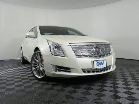 White Diamond Tricoat 2013 Cadillac XTS Platinum AWD