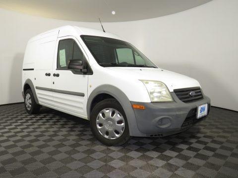 Frozen White 2010 Ford Transit Connect XL Cargo Van