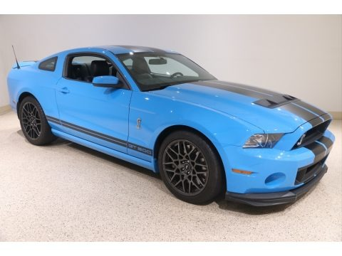 Grabber Blue 2013 Ford Mustang Shelby GT500 SVT Performance Package Coupe