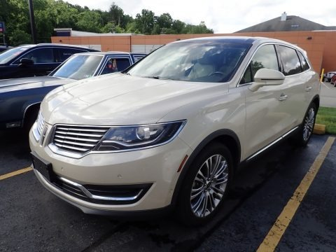 Ivory Pearl Metallic Tri-Coat 2018 Lincoln MKX Reserve AWD