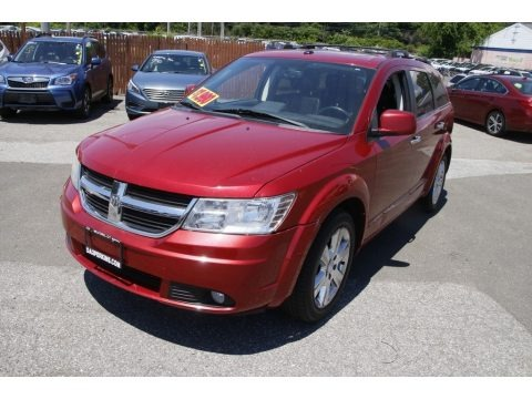 Inferno Red Crystal Pearl Coat 2010 Dodge Journey R/T AWD