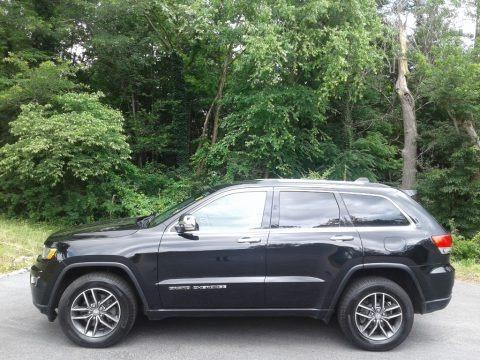 Diamond Black Crystal Pearl 2017 Jeep Grand Cherokee Limited 4x4