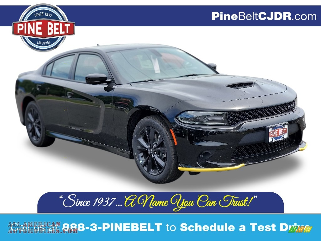 2020 Charger GT AWD - Pitch Black / Black photo #1