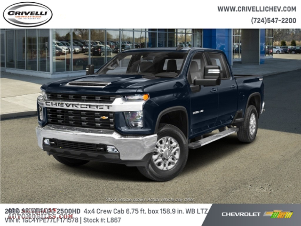 2020 Silverado 2500HD LTZ Crew Cab 4x4 - Northsky Blue Metallic / Gideon/­Very Dark Atmosphere photo #1