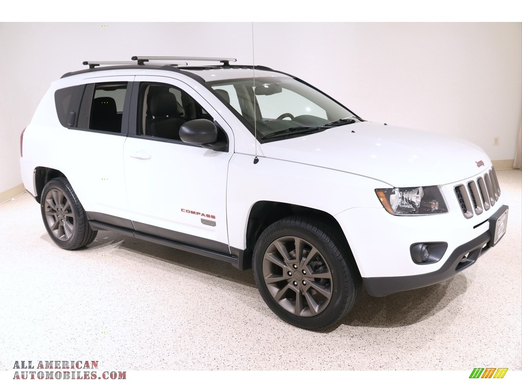Bright White / Dark Slate Gray Jeep Compass Sport 4x4