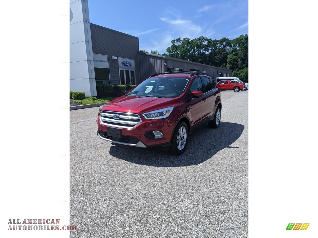 Ruby Red / Medium Light Stone Ford Escape SEL 4WD