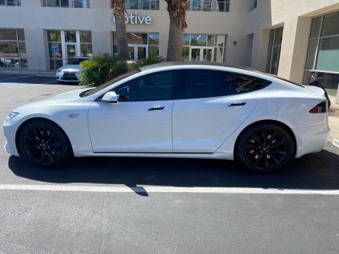 Pearl White Multi-Coat 2016 Tesla Model S 75