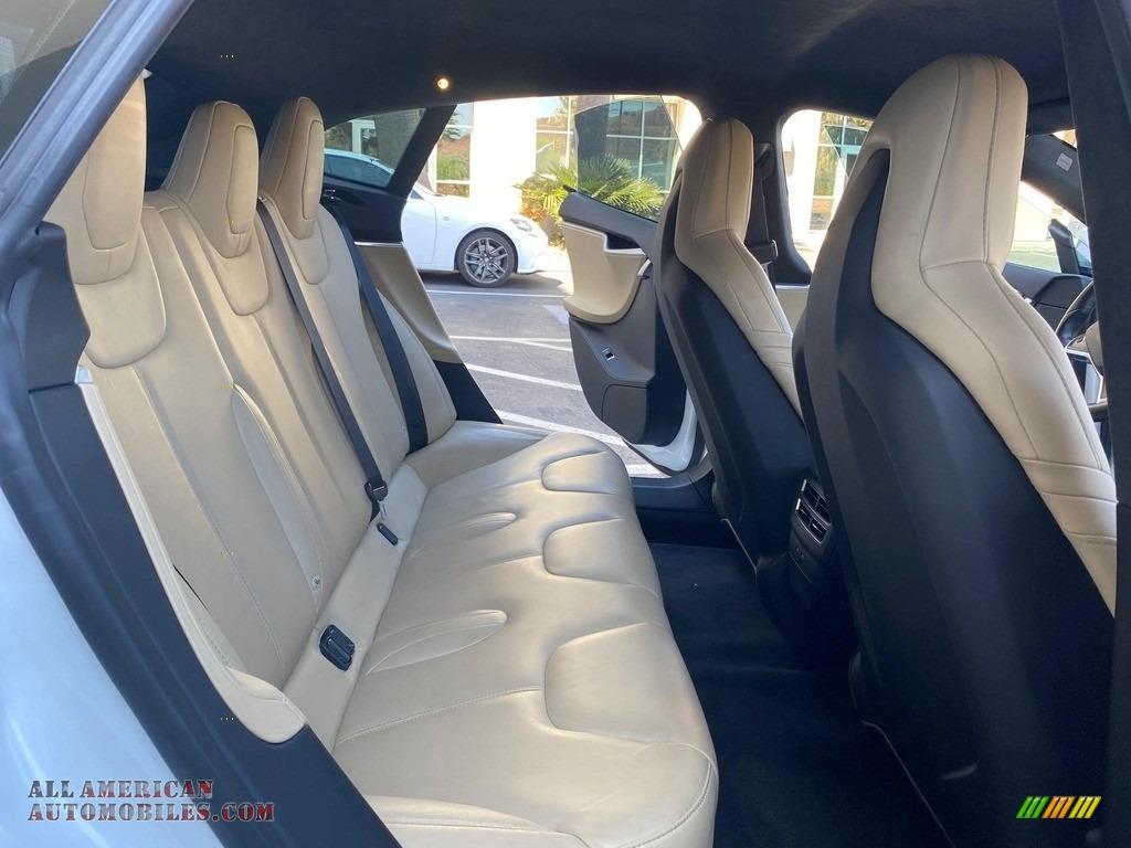 2016 Model S 75 - Pearl White Multi-Coat / Tan photo #12