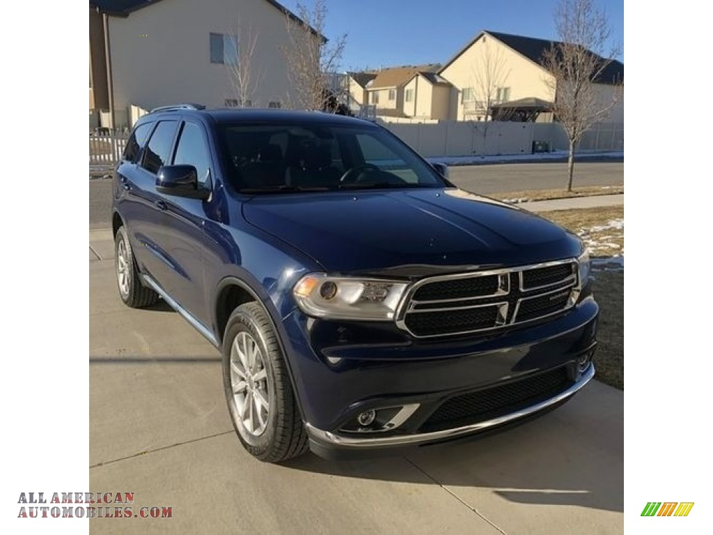 2017 Durango SXT AWD - Blu By You Pearl / Black photo #1