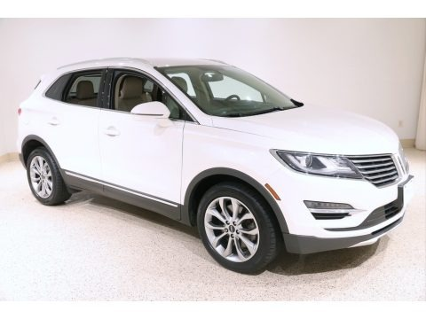 White Platinum 2017 Lincoln MKC Select AWD