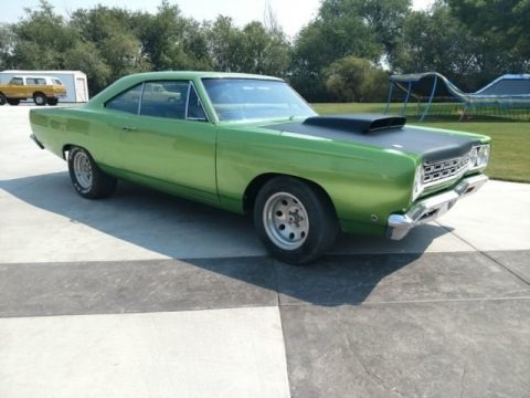Green 1968 Plymouth Roadrunner Coupe