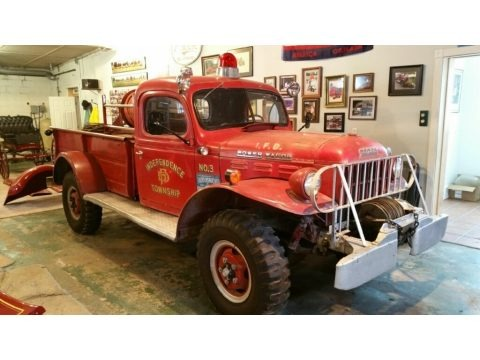 Red 1954 Dodge Power Wagon
