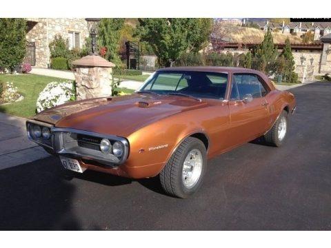 Gold 1967 Pontiac Firebird Coupe