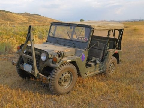 OD Green 1971 Ford M151A2 4x4 Utility Truck
