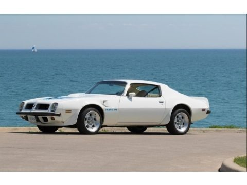 Cameo White 1974 Pontiac Firebird Trans Am