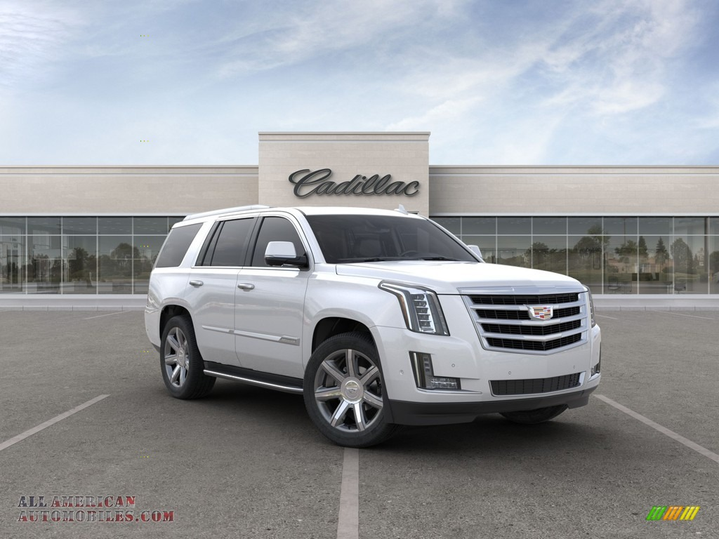 Crystal White Tricoat / Shale Cadillac Escalade Luxury 4WD