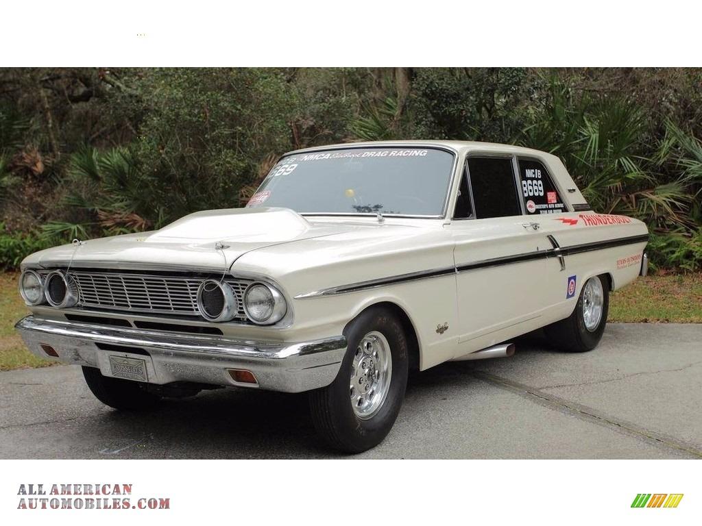 1964 Fairlane 500 Thunderbolt Coupe - White / White/Gold photo #1