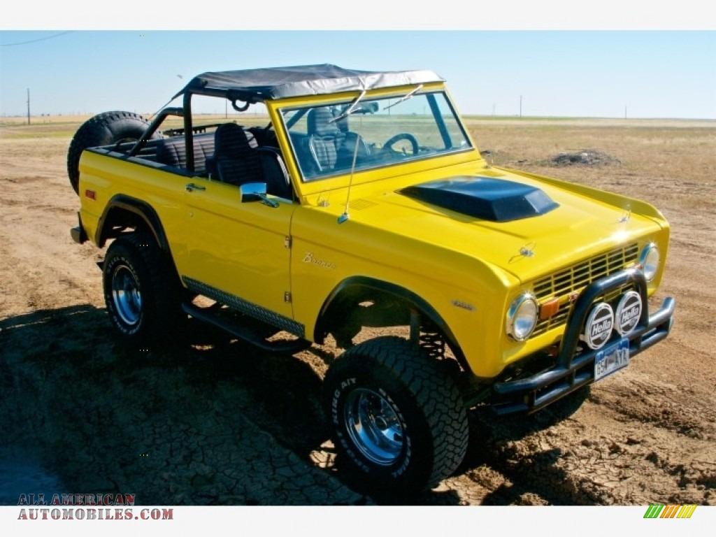 1973 Bronco 4x4 - Canary Yellow / Black photo #1