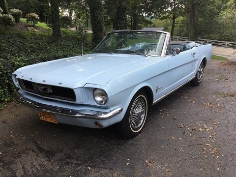 Arcadian Blue 1966 Ford Mustang Convertible