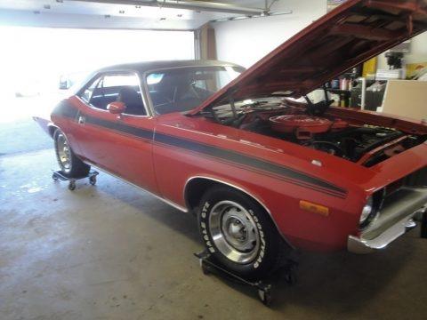 Rallye Red 1974 Plymouth 'Cuda
