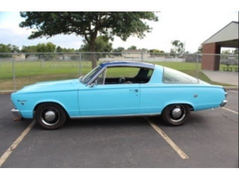 Light Blue 1966 Plymouth Barracuda Formula S