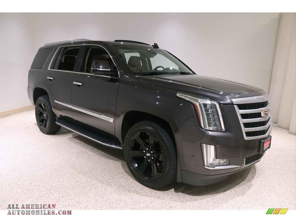 2018 Escalade Luxury 4WD - Dark Granite Metallic / Kona Brown/Jet Black photo #1