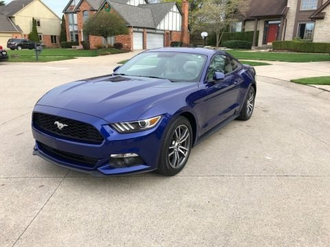 Deep Impact Blue Metallic 2016 Ford Mustang EcoBoost Premium Coupe