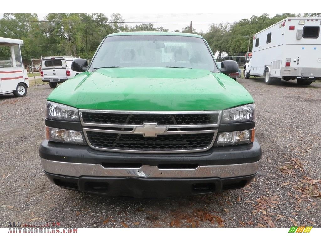 2006 Silverado 1500 Work Truck Regular Cab - Dark Green Metallic / Dark Charcoal photo #1