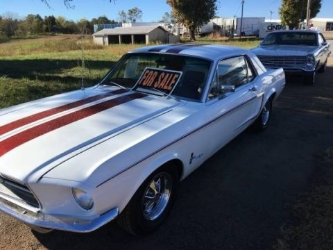 Wimbledon White 1968 Ford Mustang Coupe