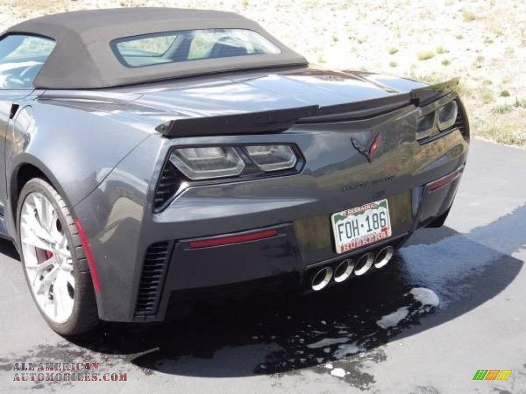 2018 Corvette Z06 Convertible - Watkins Glen Gray Metallic / Gray photo #11