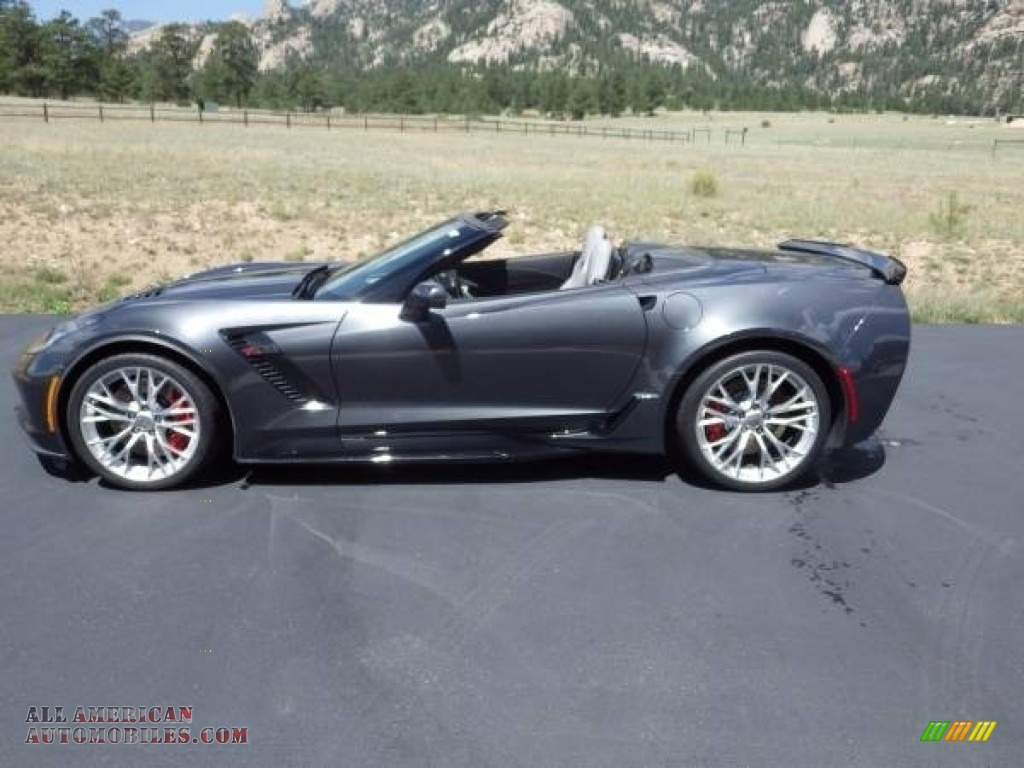 2018 Corvette Z06 Convertible - Watkins Glen Gray Metallic / Gray photo #14