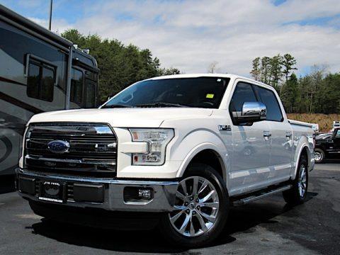 White Platinum Tricoat 2015 Ford F150 Lariat SuperCrew
