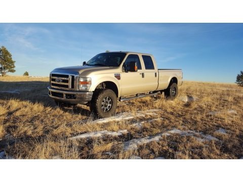Pueblo Gold Metallic 2008 Ford F350 Super Duty Lariat Crew Cab 4x4