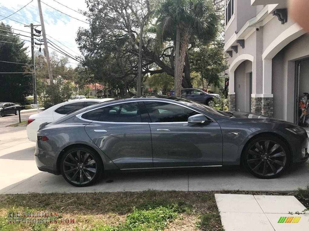 2013 Model S 85 - Grey Metallic / Grey photo #1
