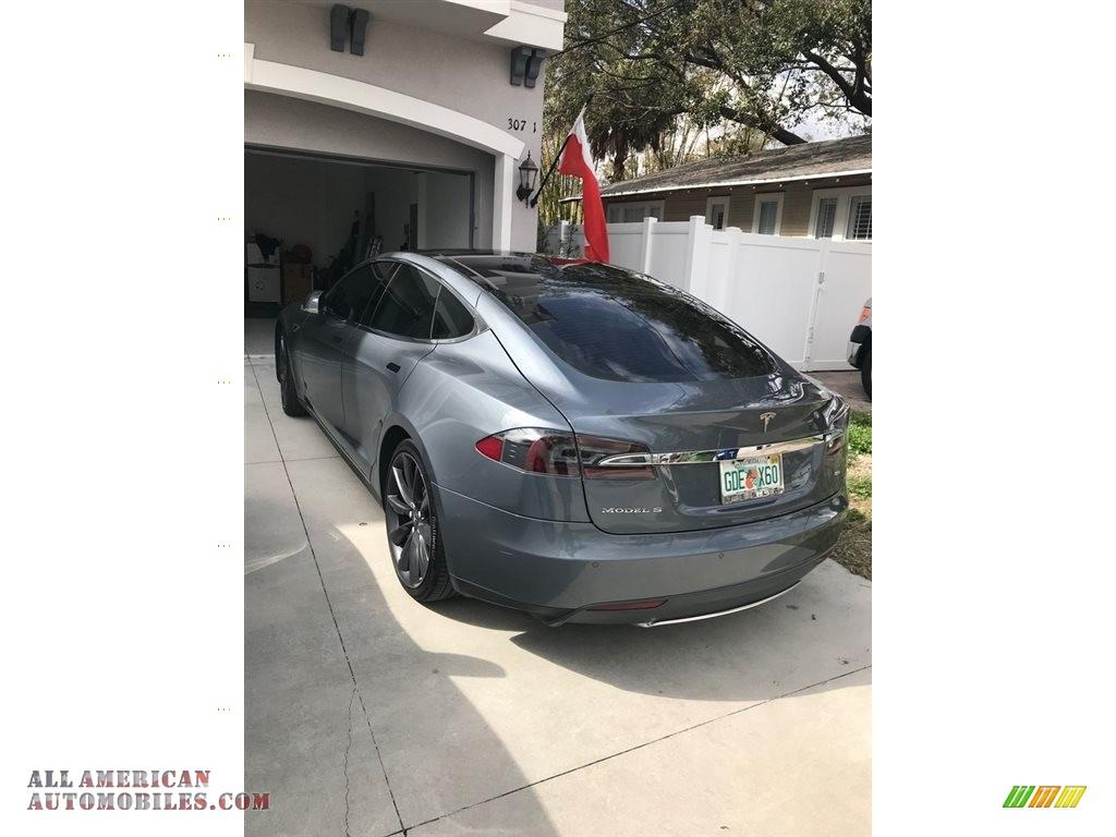 2013 Model S 85 - Grey Metallic / Grey photo #3