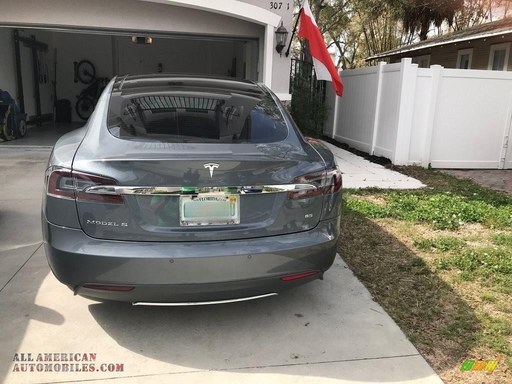 2013 Model S 85 - Grey Metallic / Grey photo #4