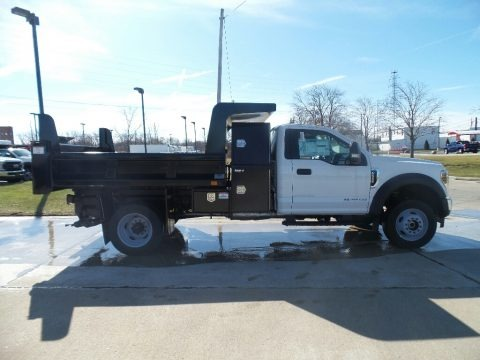Oxford White 2019 Ford F550 Super Duty XL Regular Cab 4x4 Dump Truck