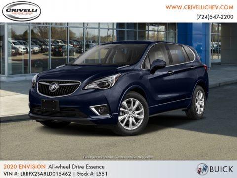 Dark Moon Blue Metallic 2020 Buick Envision Essence AWD