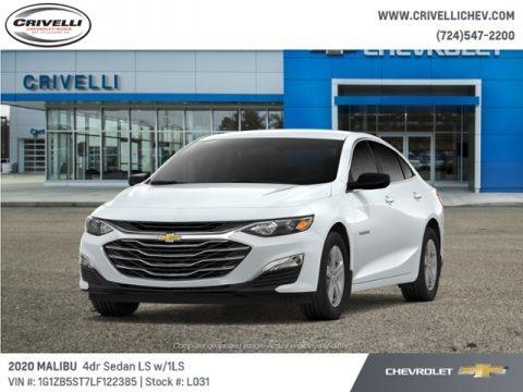 Summit White 2020 Chevrolet Malibu LS