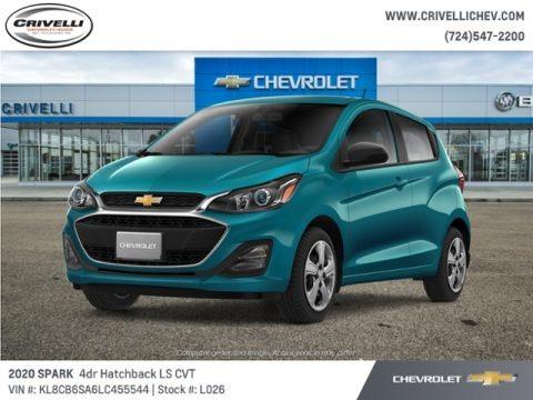 Caribbean Blue Metallic 2020 Chevrolet Spark LS