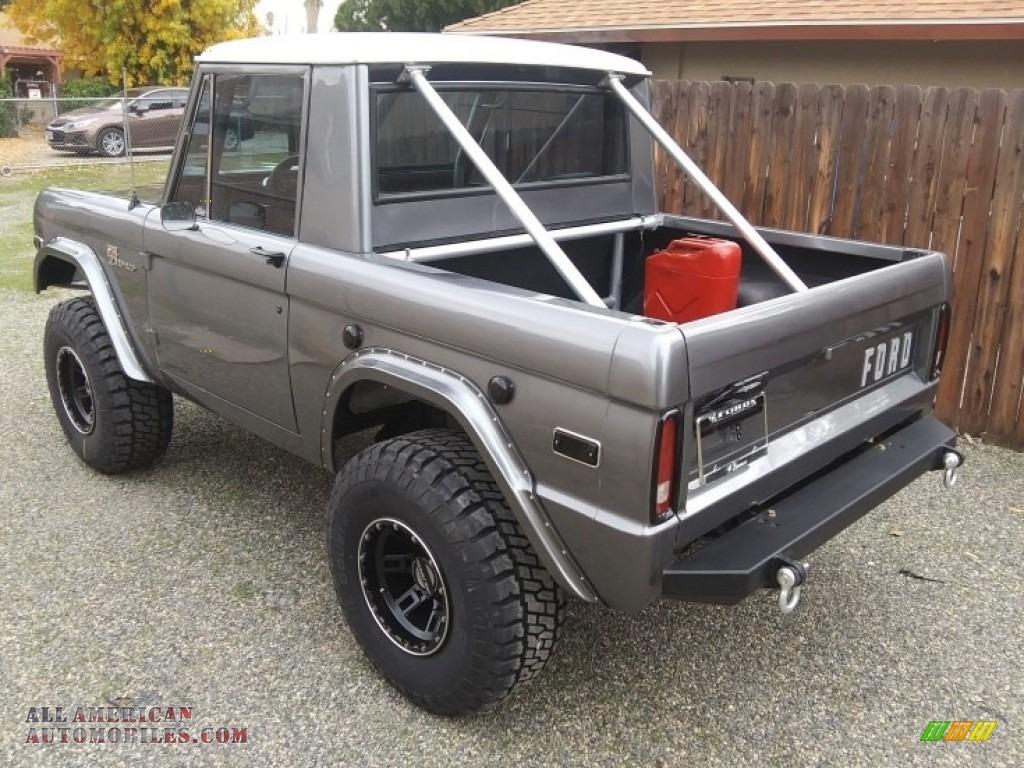 1971 Bronco Sport Wagon - Gun Metal Gray / Black photo #7