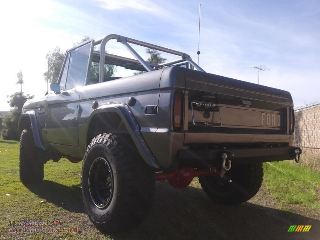 1971 Bronco Sport Wagon - Gun Metal Gray / Black photo #9
