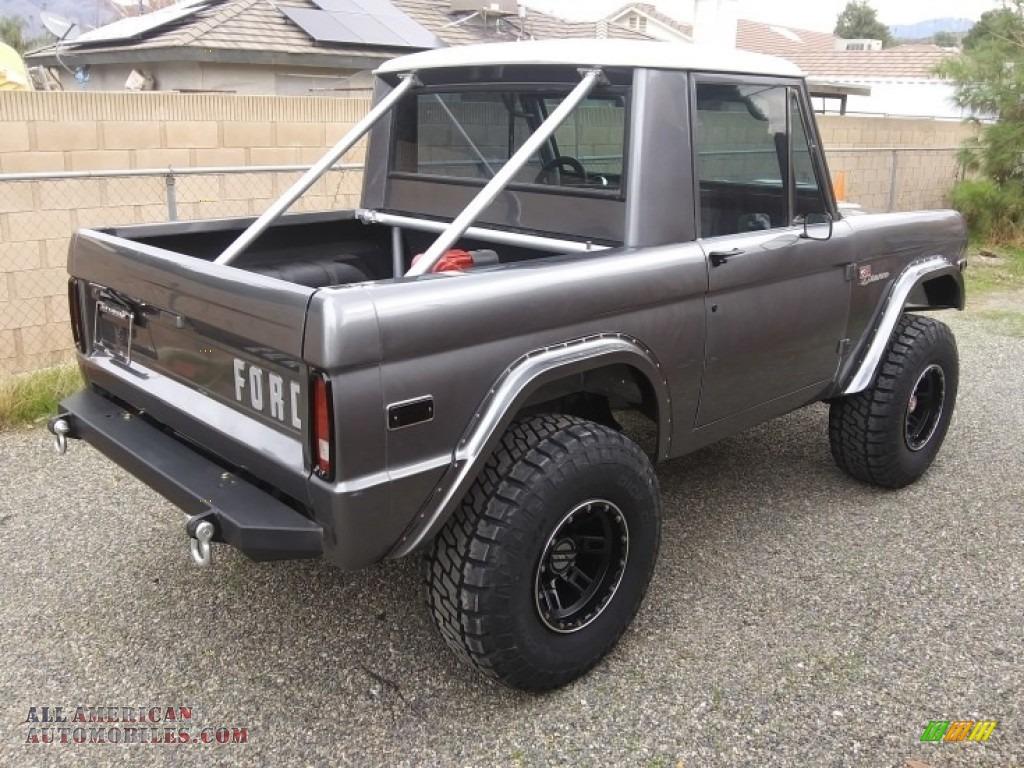 1971 Bronco Sport Wagon - Gun Metal Gray / Black photo #10